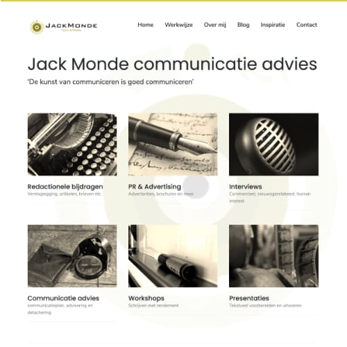 Website van Jack Monde
