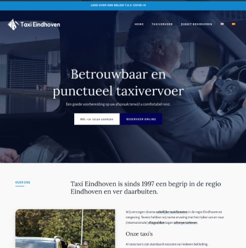 preview website Taxi Eindhoven